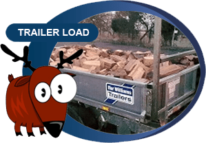 trailer filled with wood