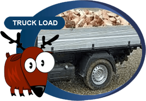 truck filled with wood